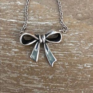 James Avery Bow Necklace-Retired